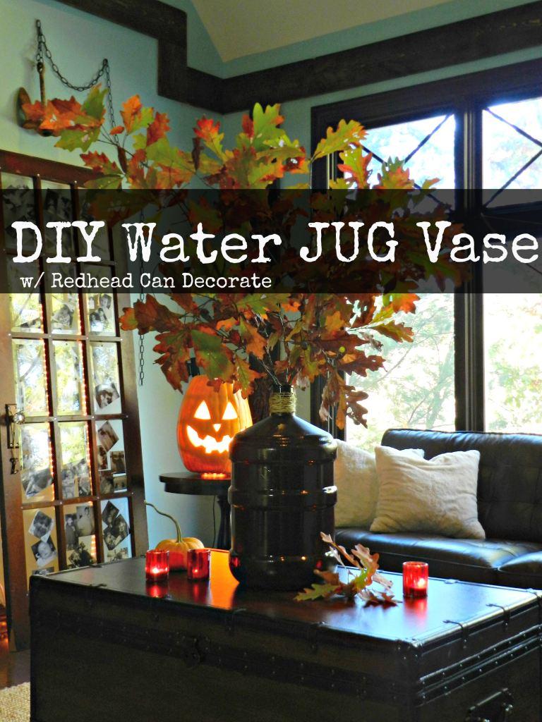 Water Jug Vase by redheadcandecorate.com