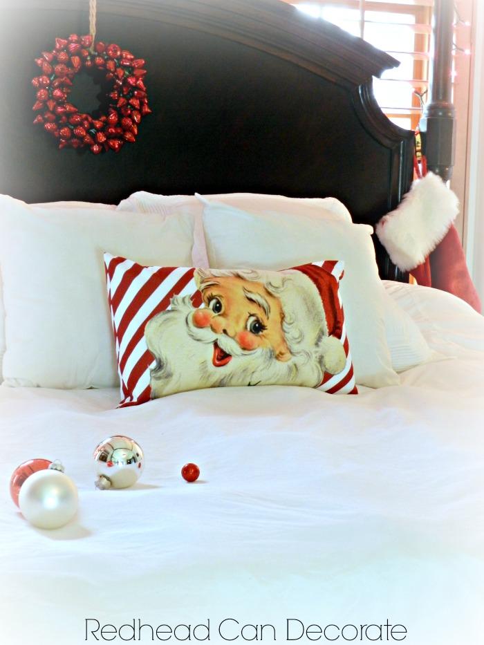 Cute Striped Santa Pillow