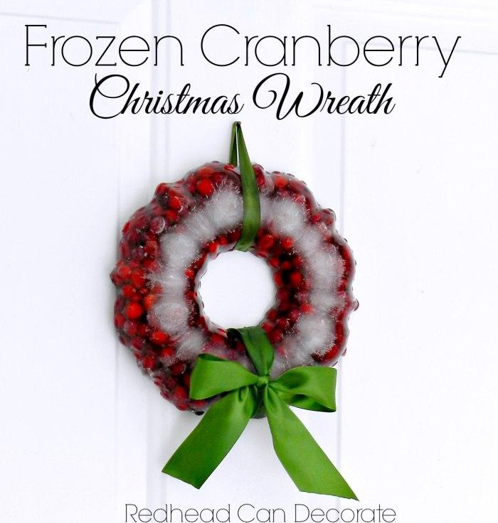 Frozen Cranberry Christmas Wreath
