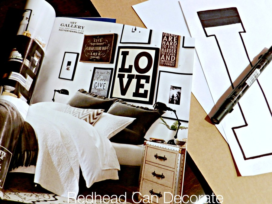 Pottery Barn Knock Off Love Sign