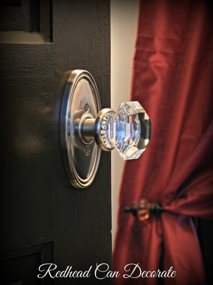 Glass Door Knobs - Redhead Can Decorate