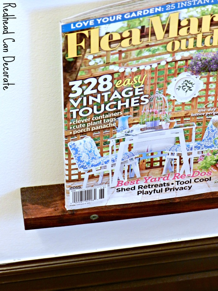 How to make a really easy DIY magazine rack for your small bathroom!