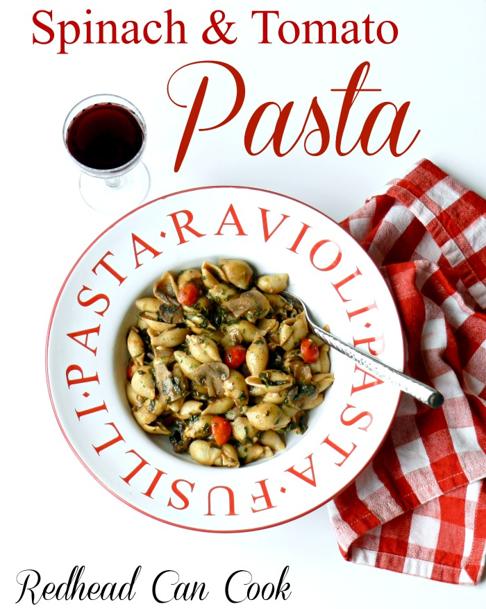 A few staples and some fresh veggies make this simple yet satisfying Spinach & Tomato Pasta a huge favorite at our house.