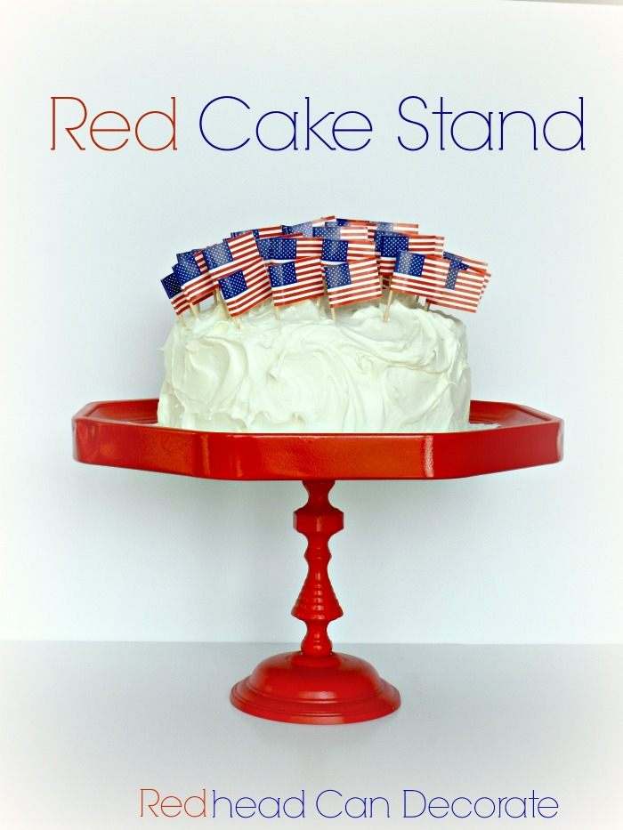 Pottery Barn Knock Off Cake Stand Tutorial