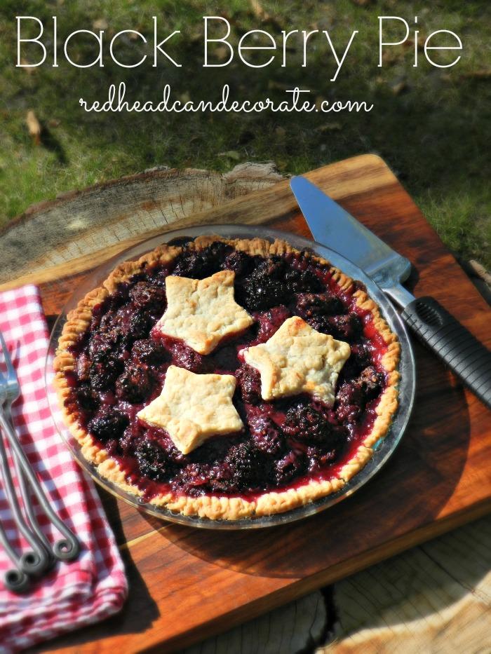 Black Berry Pie Recipe