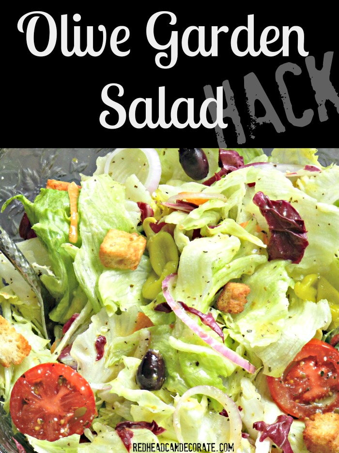 Olive Garden Salad Hack Redhead Can Decorate