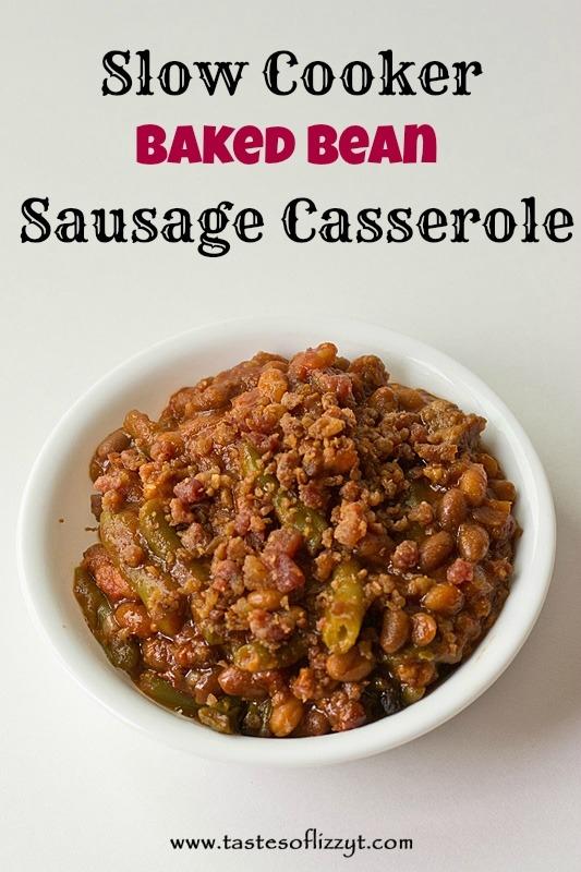 Slow Cooker Baked Bean Sausage Casserole
