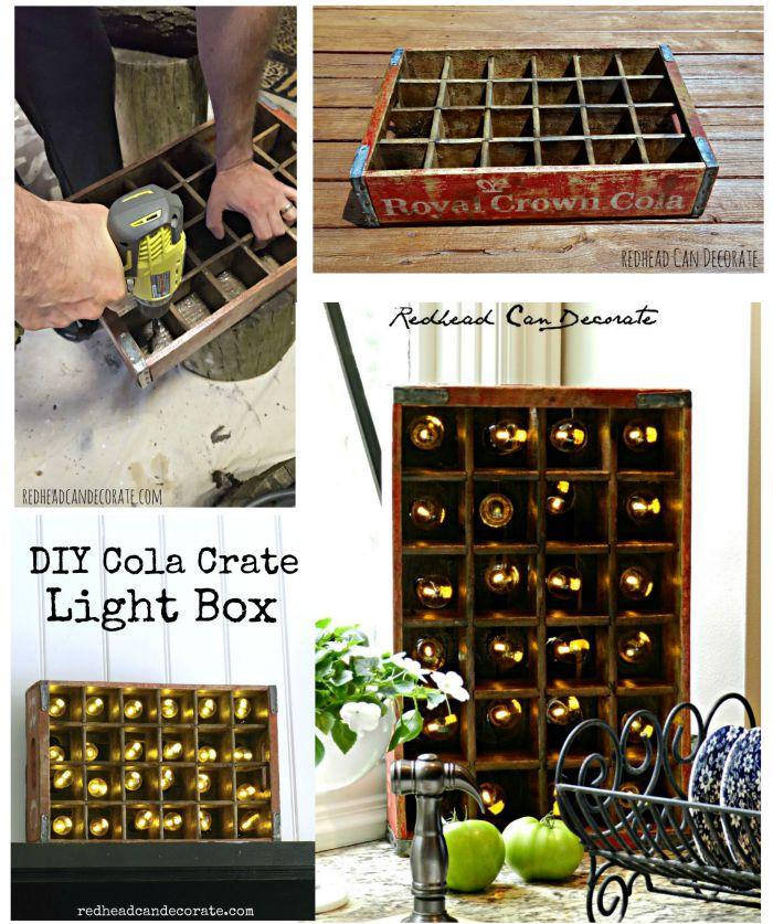 DIY Cola Crate Light Fixture