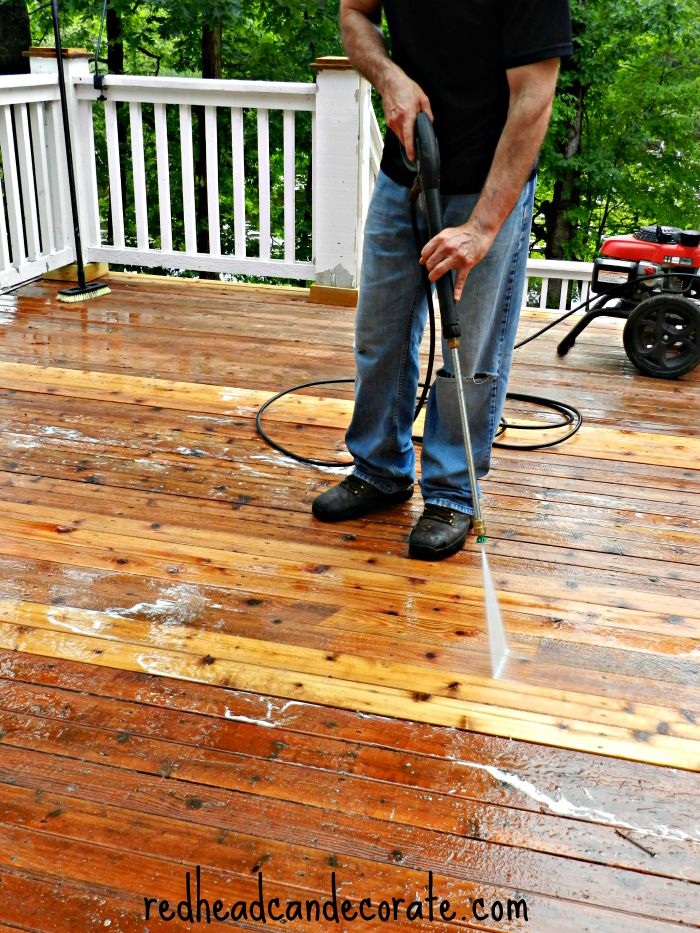 How to strip your deck of old stain and make it gorgeous again.