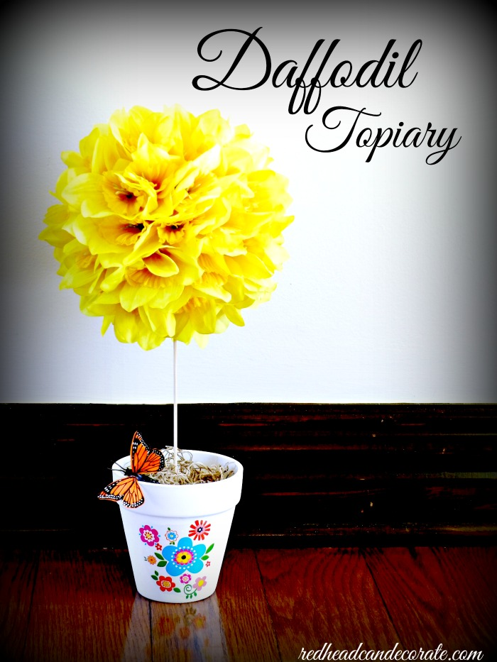 Easy DIY Daffodil (or any flower) Centerpiece
