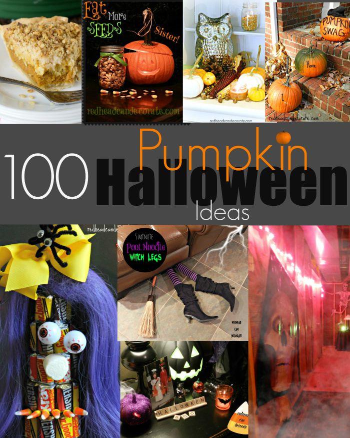 100 Pumpkin & Halloween Ideas