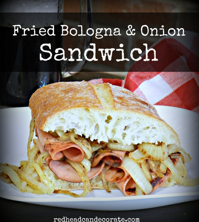 Fried Bologna & Onion Sandwich Recipe
