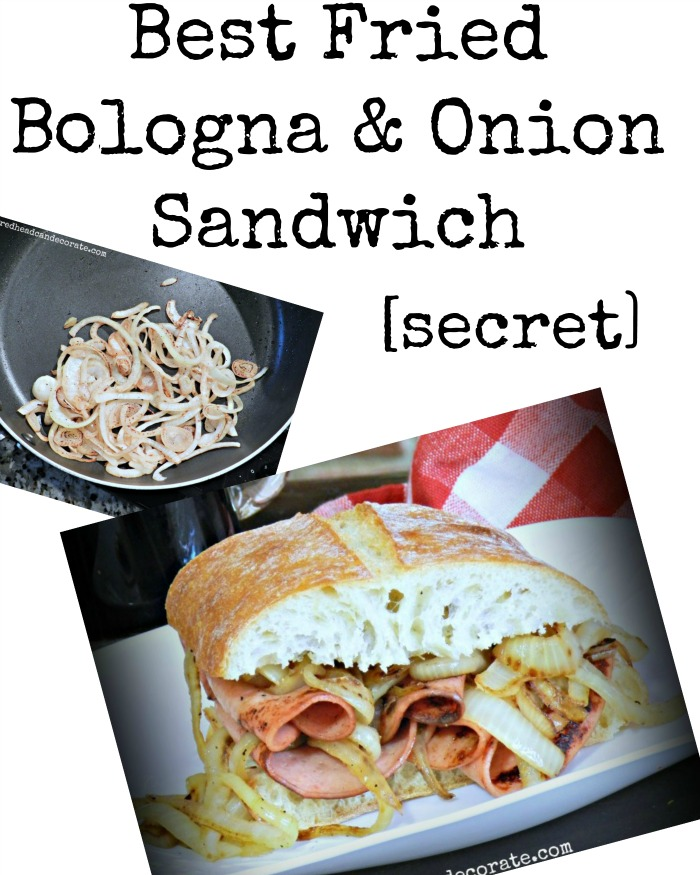 The secret to the best fried bologna sandwich ever! Great tip!!