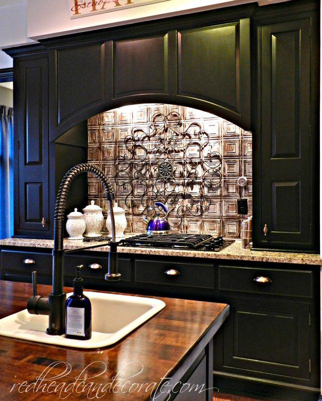 black cabinets kitchen