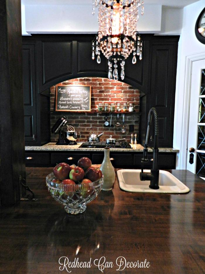DIY Brick Backsplash & Thanksgiving Kitchen Tour