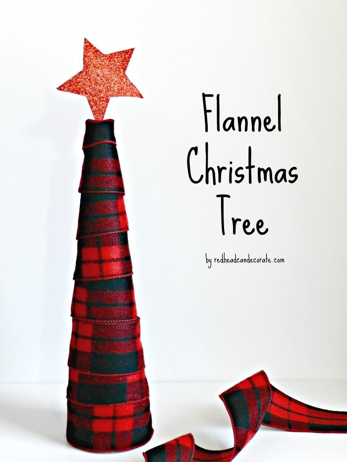 Flannel Christmas Tree