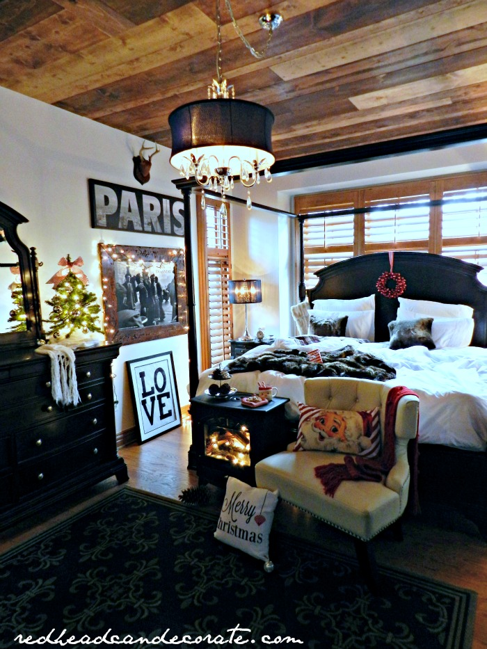 Cozy Christmas Bedroom Redhead Can Decorate