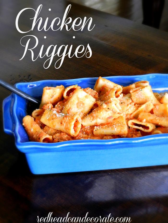 Chicken Riggies