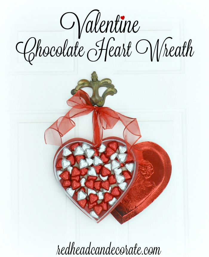 Valentine Chocolate Heart Wreath