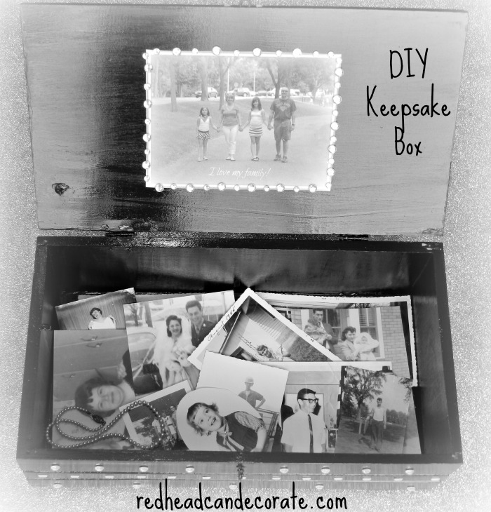 DIY Keepsake Box by redheadcandecorate.com