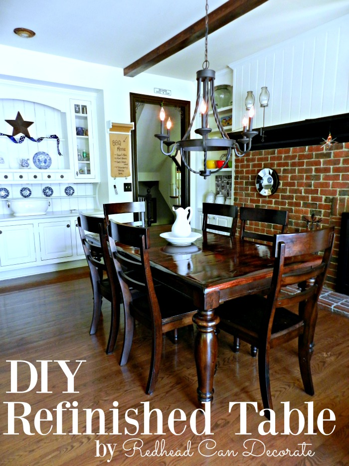 DIY Refinished Table