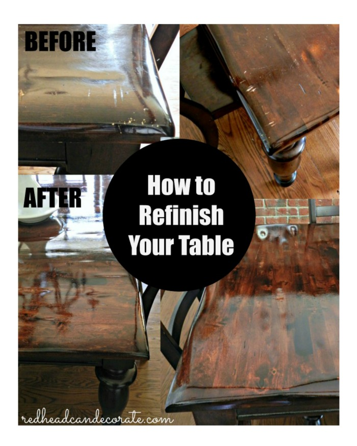 Refinishing Dining Room Table: DIY Refinished Dining Table