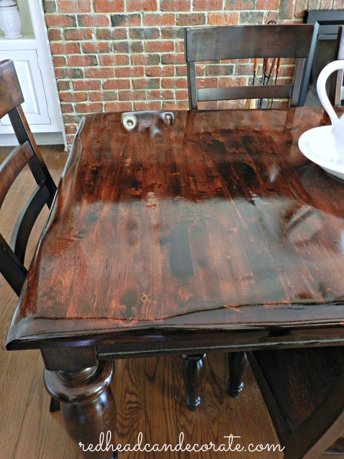 Refinished Table redheadcandecorate.com