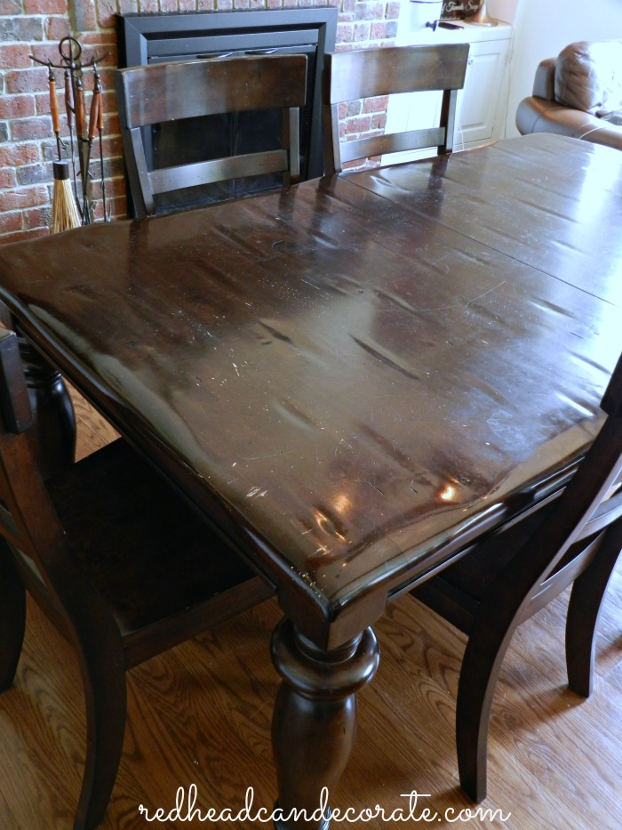 High Quality Table Before Refinished