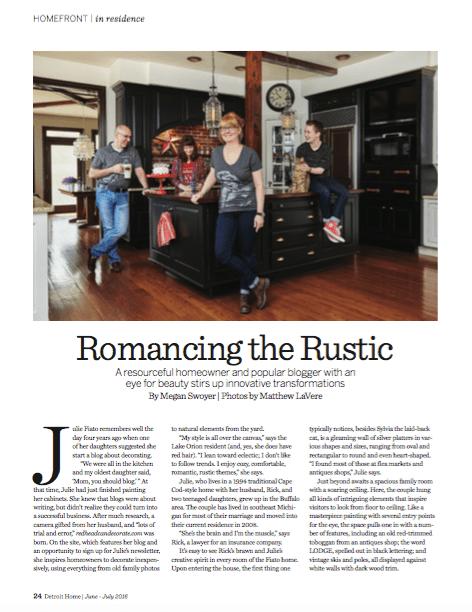 Detroit Home Magazine Page 1