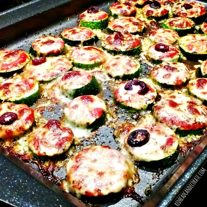 Easy, and good for you! Zucchini Pizza Bites