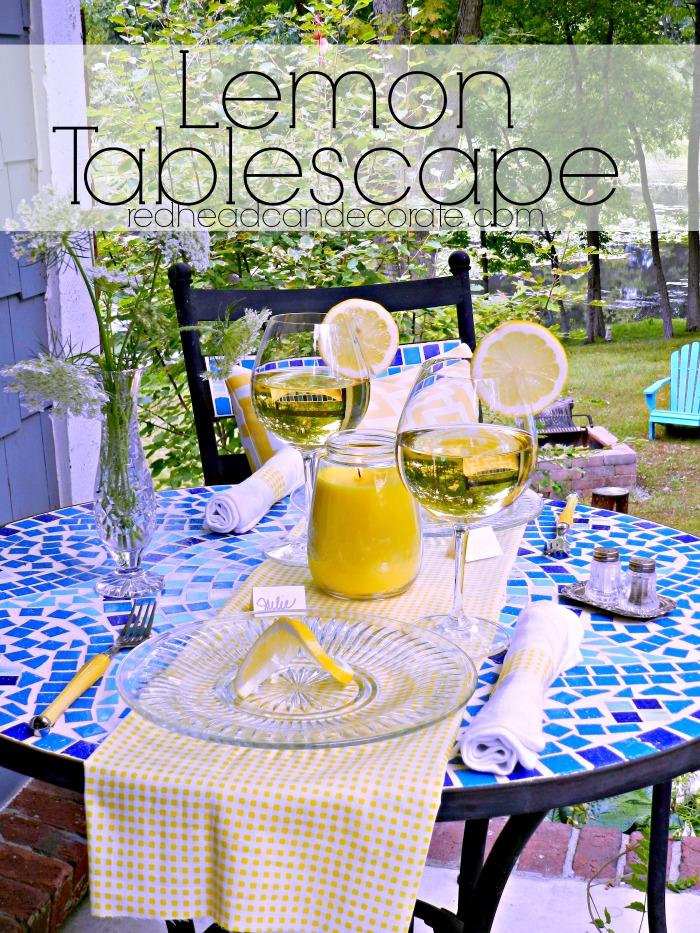 Lemon Tablescape Summer