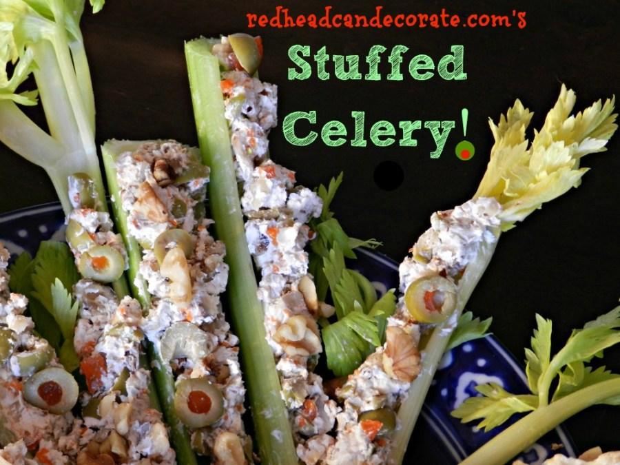 olive stuffed celery