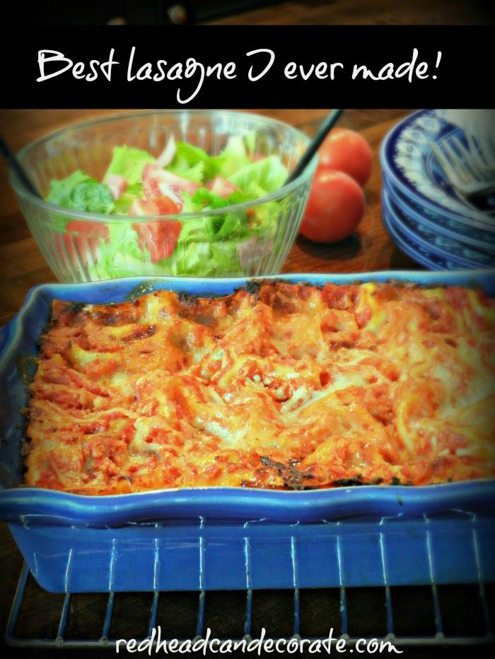 best-lasagne-i-ever-made