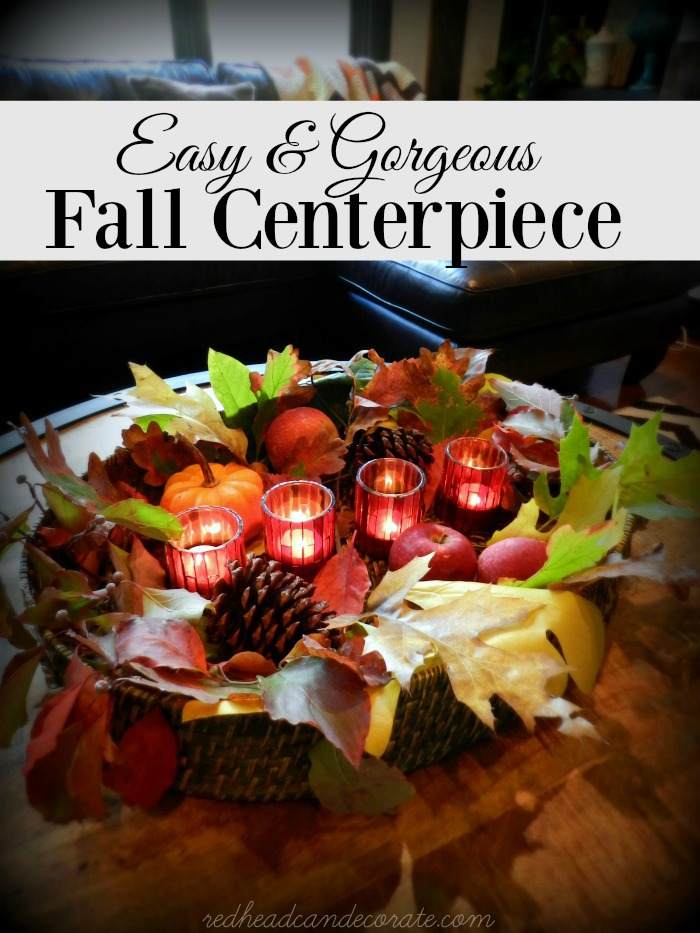 Rattan Tray Fall Centerpiece