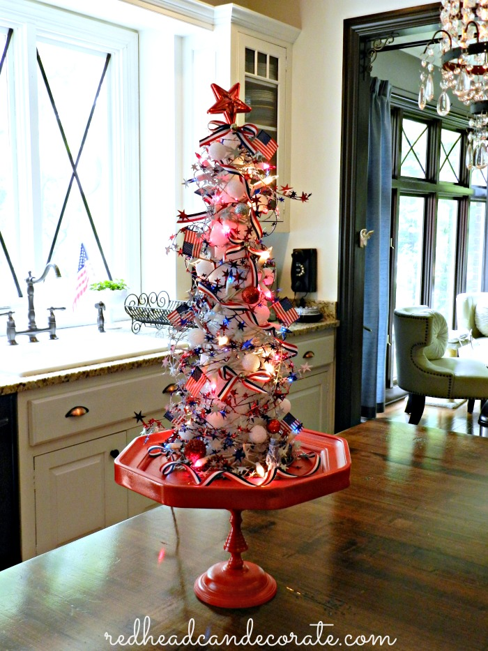 Decorating Christmas Trees With Ribbon