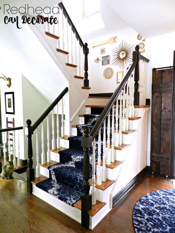 Diy Stair Runner Amp Gallery Wall Redhead Can Decorate