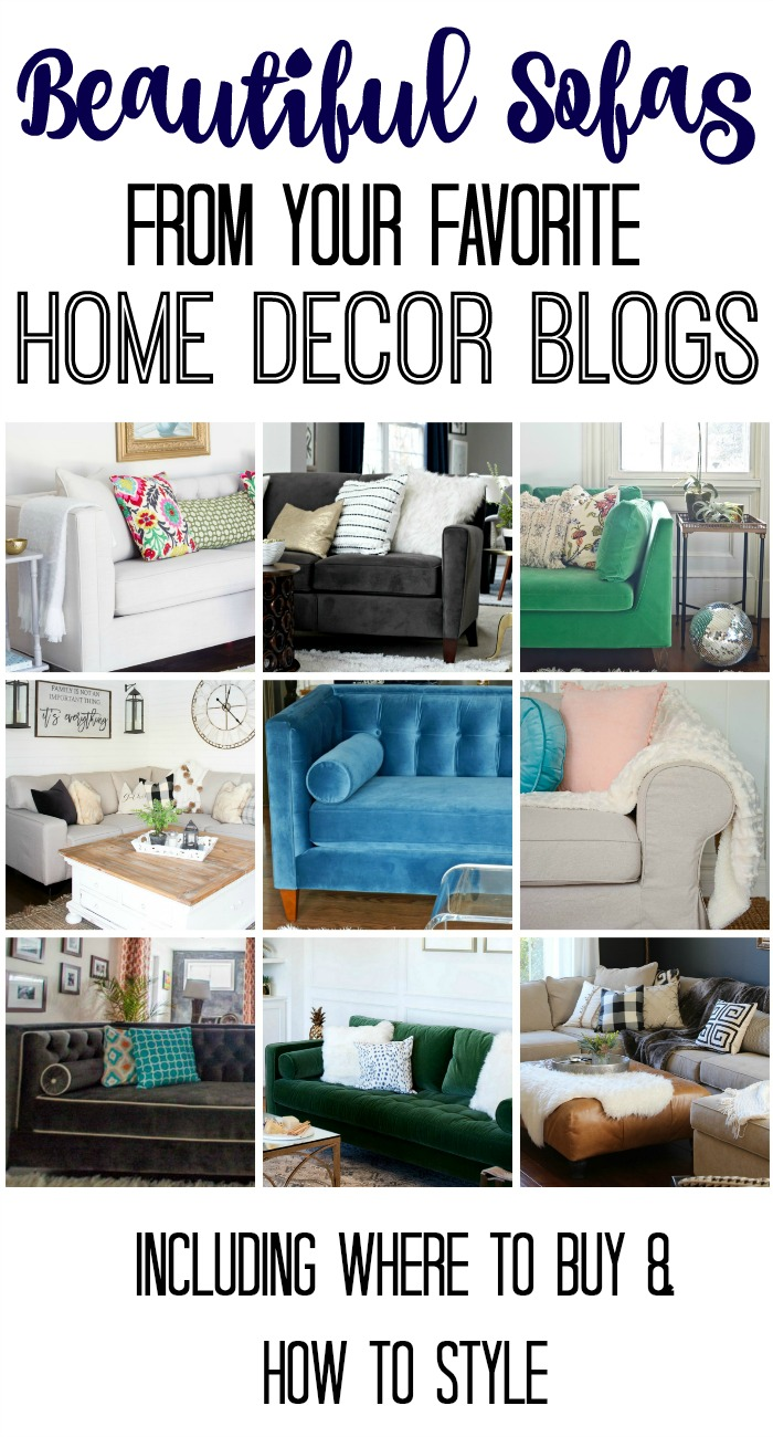 My teal blue velvet sofa for Best home decor blogs 2017
