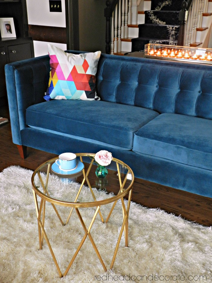 Captivating This Teal Blue Velvet Sofa Is Gorgeous! There Are More Colors, Too!