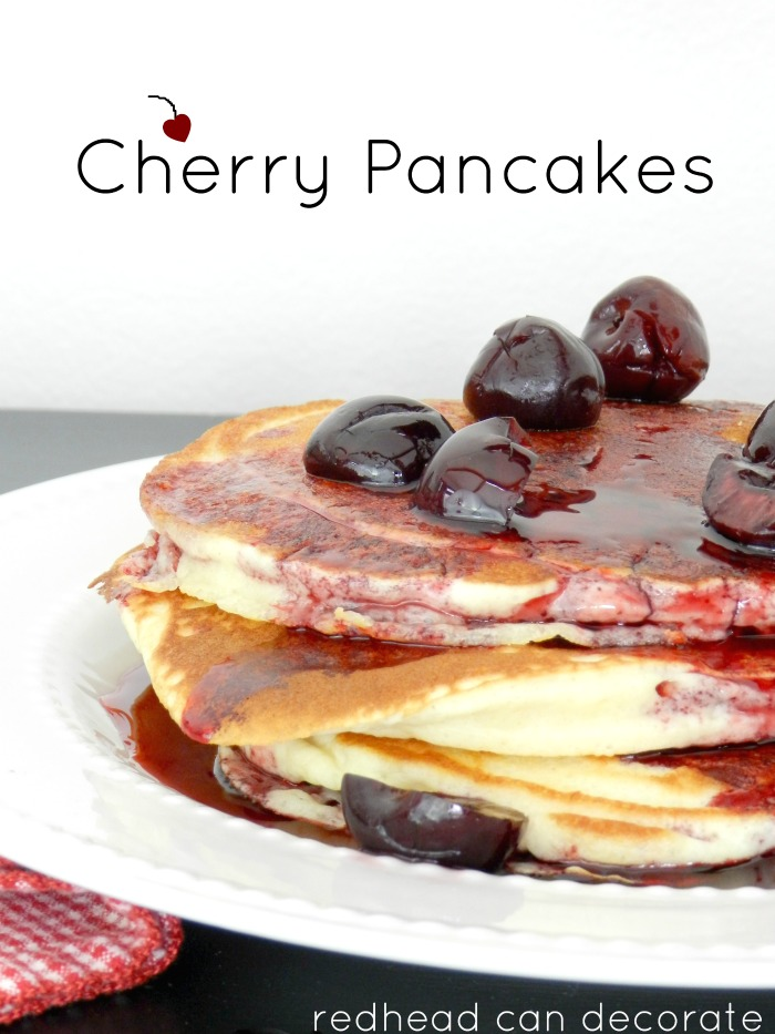 Have you ever tried cherry maple syrup on pancakes? Why I waited so long I have no idea. It's way better than just regular syrup. Making these this weekend again.