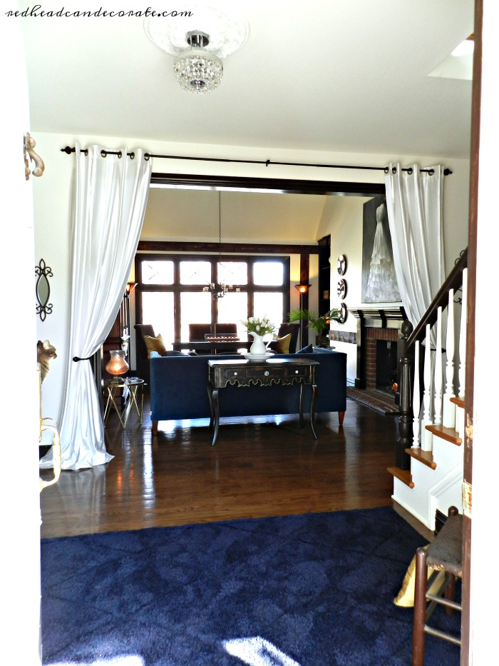 Grommet Curtain Panels Hung In The Entry Way Make A Part 30