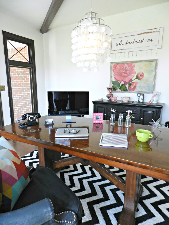 Transform an unused dining room space into an amazing OFFICE!