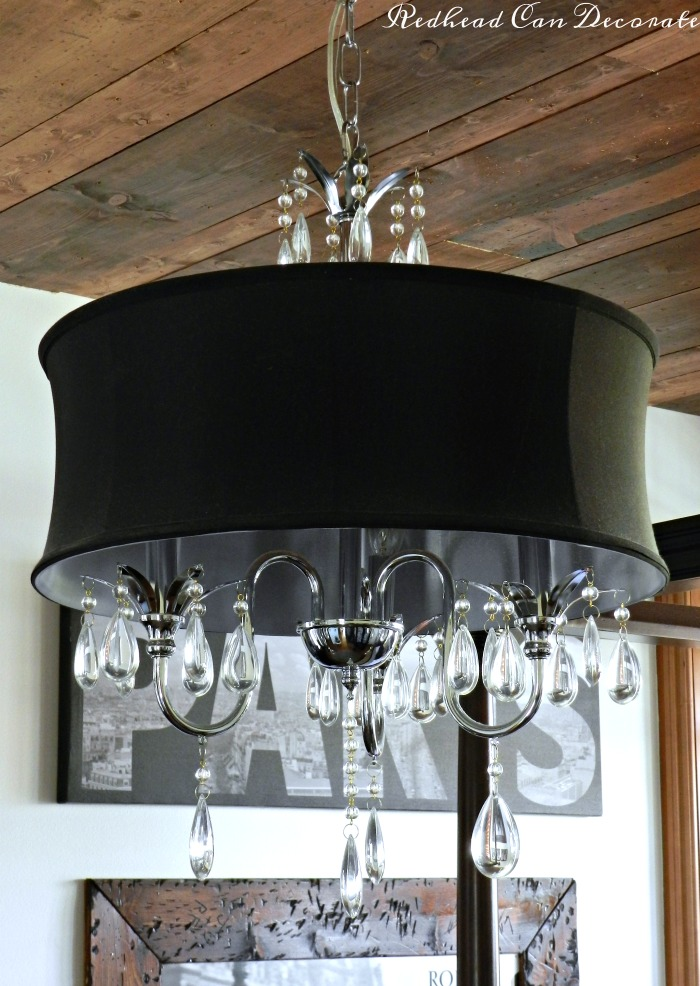 Gorgeous and affordable black drum chandelier. Perfect for a bedroom light makeover! Click here to see it.