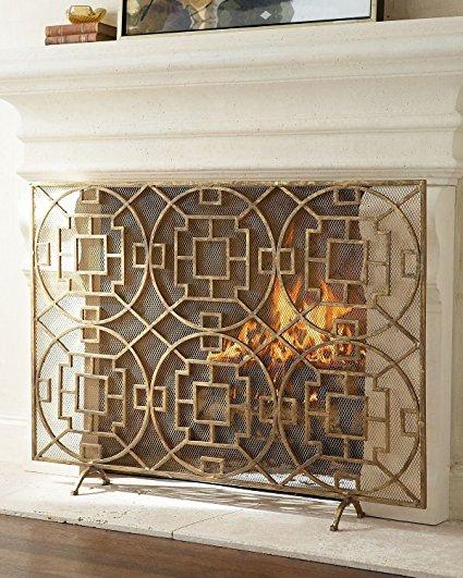 Gold Decorative Fireplace Screens