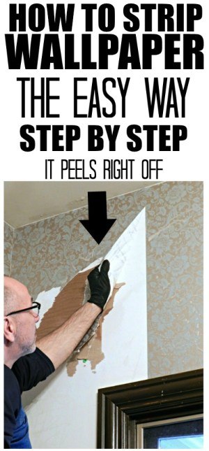 How to strip your wallpaper easily!