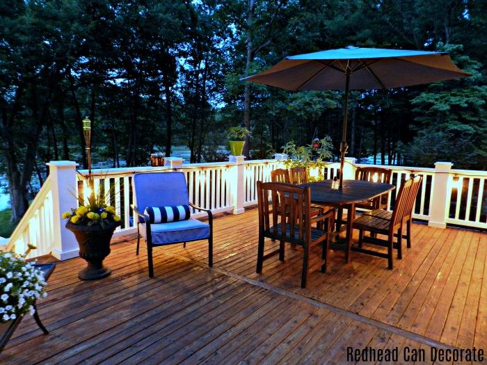 """Hang vintage style string lights on your deck, porch, or patio and enter to win a free set at """"Vintage Style Outdoor String Lights & Giveaway""""."""