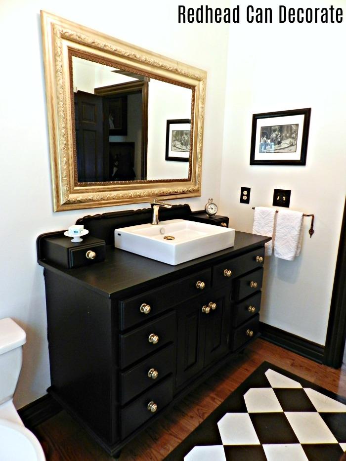 Black Amp Gold Bathroom Redhead Can Decorate