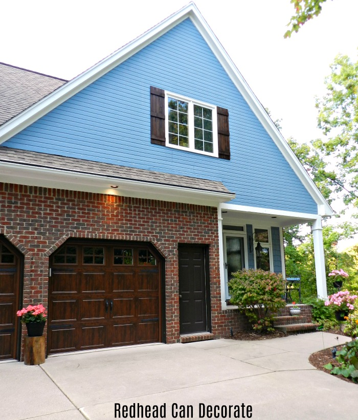 Exterior Cedar Shutters (the reveal) - Redhead Can Decorate