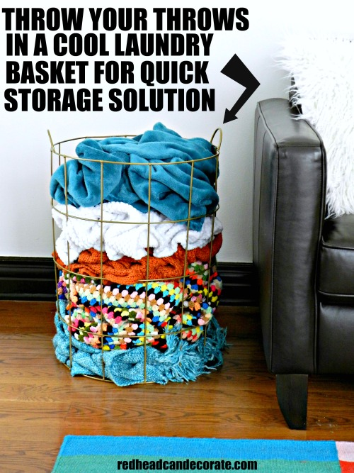 3 Clever Household Storage Clean-up Tips-ths is such a cool idea for blanket storage!