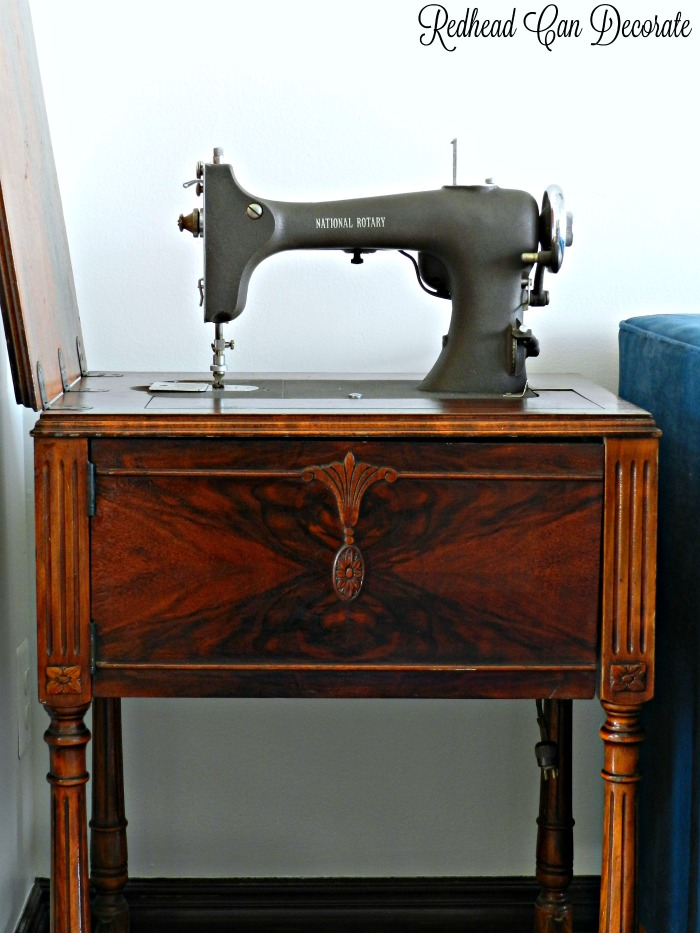 Vintage Sewing Machine Table Makeover Without Refinishing Painting