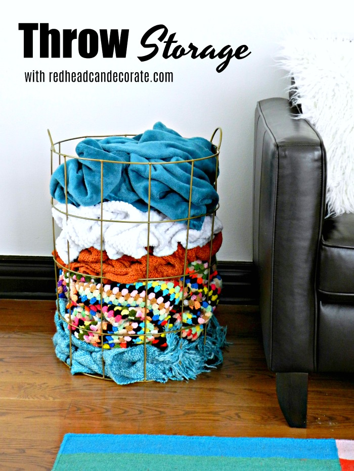 "3 Clever Household Storage Clean-up Tips including a cool idea for ""throws""..."